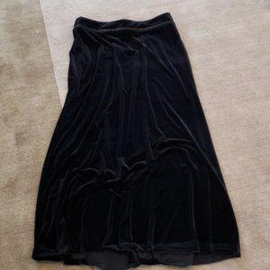 Black Velvet Evening Maxi Skirt  Like New